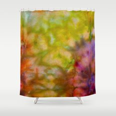 Burgundy and Olive Abstract Shower Curtain