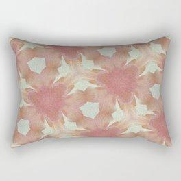 Geometric Floral Design - Pink Rectangular Pillow