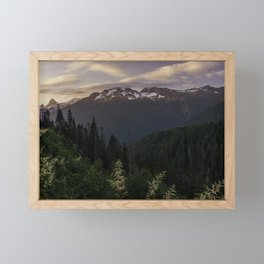 Never Stop Exploring - Cascade Sunset Framed Mini Art Print