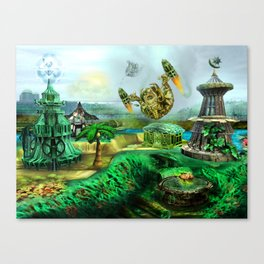 Makeshift Island Canvas Print
