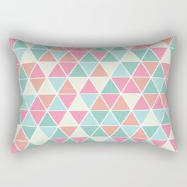 Triangulation (pink and green) Rectangular Pillow