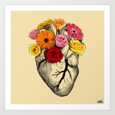 Flower Heart Art Print