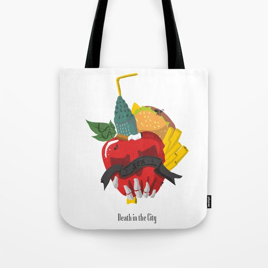 Death in the city Tote Bag
