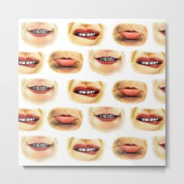 Lips with emotions Metal Print