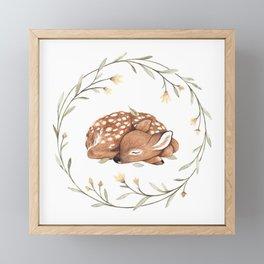 Wildflower Fawn Framed Mini Art Print