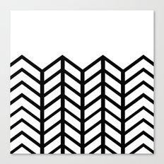 BLACK & WHITE LACE CHEVRON Canvas Print