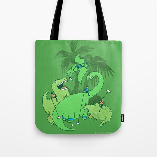 Polo with Dinosaurs Tote Bag