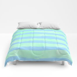 Trendy Stripes Blue Raspberry + Mint Meringue Comforters