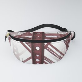 Red Steel Construction Fanny Pack