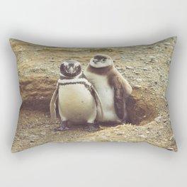 Penguin with chick Rectangular Pillow
