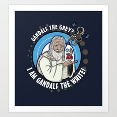 Gandalf the White Detergent Art Print