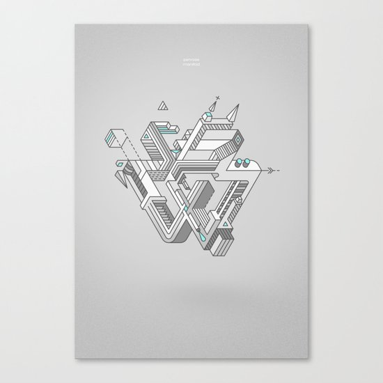 Penrose Manifold Canvas Print