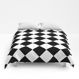 Diamond Black & White Comforters