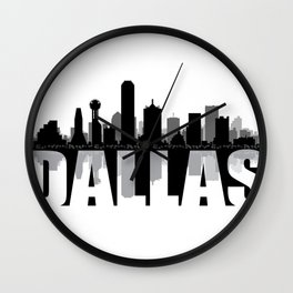 Dallas Silhouette Skyline Wall Clock