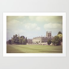 Oxford college Art Print