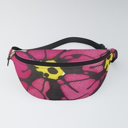 Seven Flowers (Pink): gorgeously simple original art, vibrant flowers in a pot Fanny Pack