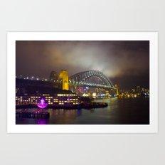 Vivid Bridge Art Print