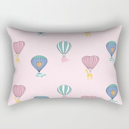 Sweet balloon dreams - pink Rectangular Pillow
