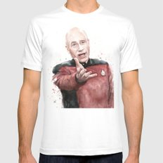 Annoyed Picard Meme Mens Fitted Tee White MEDIUM
