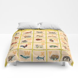 hand drawn animals poster for all English letters Comforters