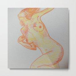 Leaning Nude  Metal Print