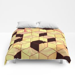 Geometrical Force #1 Comforters