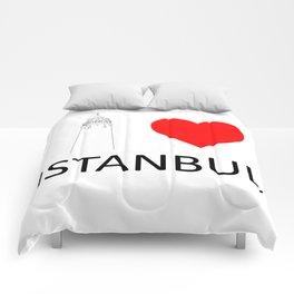 I Love Istanbul Comforters