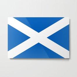 Flag of Scotland - Scottish flag Metal Print