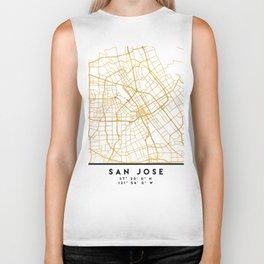 SAN JOSE CALIFORNIA CITY STREET MAP ART Biker Tank