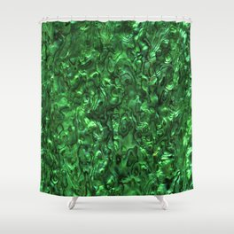 Abalone Shell | Paua Shell | Green Tint Shower Curtain