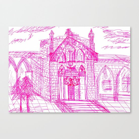 Building sketch Canvas Print