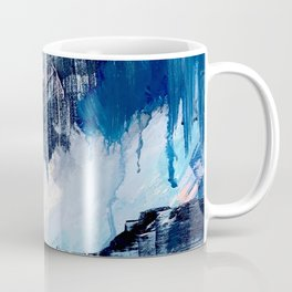 Vibes: an abstract mixed media piece in blues and pinks by Alyssa Hamilton Art Coffee Mug