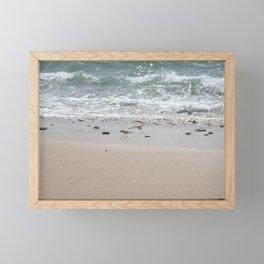 Seashore Sandpipers in tideland Framed Mini Art Print