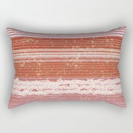Abstract in shades of red and creamy Rectangular Pillow
