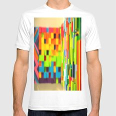 Wall Scape MEDIUM Mens Fitted Tee White