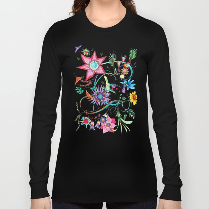 Gipsy garden - hand drawn Long Sleeve T-shirt