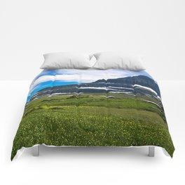 Logans Pass, Glacier National Park Comforters