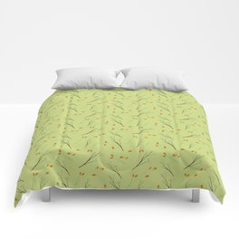 Mustard Floral Pattern Comforters
