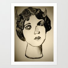 1922 Lila Lee portrait Art Print