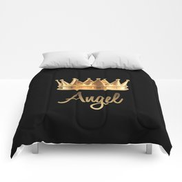 Gold Crown Angel Comforters