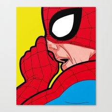 The secret life of heroes - A Very big Spiderbogie Canvas Print