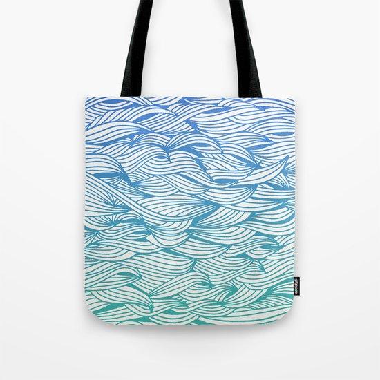 Ombré Waves Tote Bag