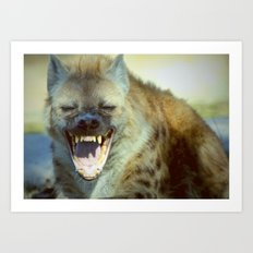 Laughing Hyena  Art Print
