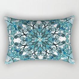 Oriental Mandala in turquoise Rectangular Pillow