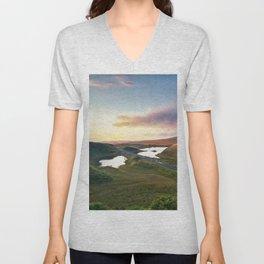 Vanishing Lakes,Ireland,Northern Ireland,Ballycastle Unisex V-Neck