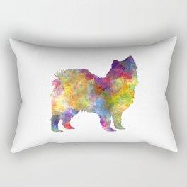 Swedish Lapphund in watercolor Rectangular Pillow