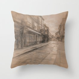 Shambles York da Vinci Throw Pillow