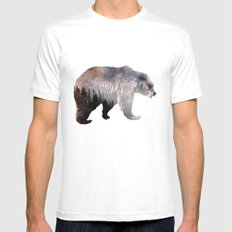 Bear LARGE Mens Fitted Tee White