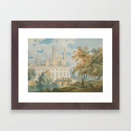 """J.M.W. Turner """"Clare Hall and King's College Chapel, Cambridge, from the Banks of the River Cam"""" Framed Art Print"""