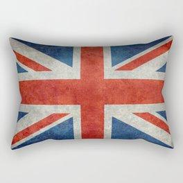 """UK Union Jack flag """"Bright"""" retro grungy style Rectangular Pillow"""